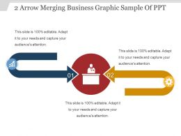 2 Arrow Merging Business Graphic Sample Of Ppt