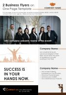 2 Business Flyers On One Page Template 1 Presentation Report Infographic PPT PDF Document