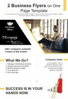 2 Business Flyers On One Page Template 2 Presentation Report Infographic PPT PDF Document