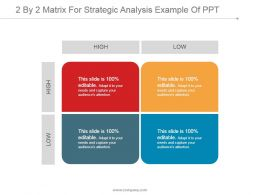 2 By 2 Matrix For Strategic Analysis Example Of Ppt