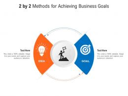 2 By 2 Methods For Achieving Business Goals