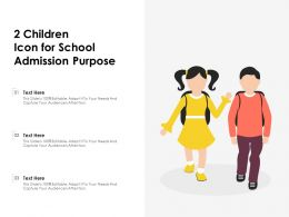 2 Children Icon For School Admission Purpose