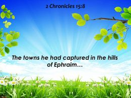 2 Chronicles 15 8 The Towns He Had Captured Powerpoint Church Sermon
