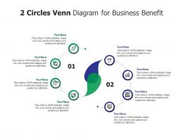 2 Circles Venn Diagram For Business Benefit Infographic Template