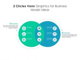 2 Circles Venn Graphics For Business Model Ideas Infographic Template