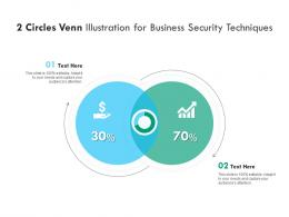 2 Circles Venn Illustration For Business Security Techniques Infographic Template