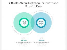 2 Circles Venn Illustration For Innovation Business Plan Infographic Template