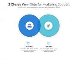 2 Circles Venn Slide For Marketing Success Infographic Template