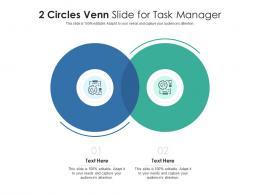 2 Circles Venn Slide For Task Manager Infographic Template
