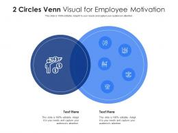 2 Circles Venn Visual For Employee Motivation Infographic Template