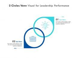 2 Circles Venn Visual For Leadership Performance Infographic Template