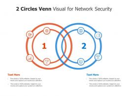 2 Circles Venn Visual For Network Security Infographic Template