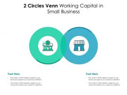 2 Circles Venn Working Capital In Small Business Infographic Template