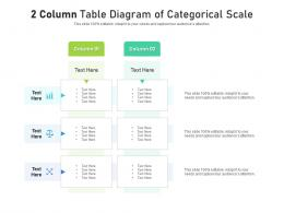 2 Column Table Diagram Of Categorical Scale Infographic Template