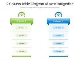 2 Column Table Diagram Of Data Integration Infographic Template
