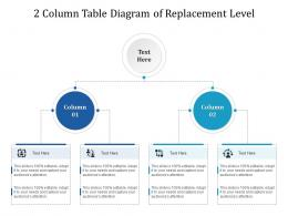 2 Column Table Diagram Of Replacement Level Infographic Template
