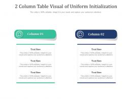 2 Column Table Visual Of Uniform Initialization Infographic Template