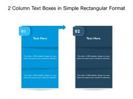 2 Column Text Boxes In Simple Rectangular Format