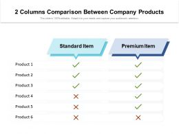 2 Columns Comparison Between Company Products