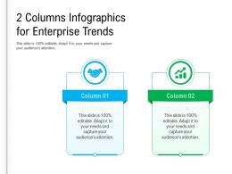 2 Columns For Enterprise Trends Infographic Template