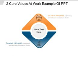 2 Core Values At Work Example Of Ppt