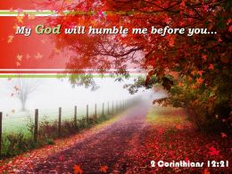 2 Corinthians 12 21 My God Will Humble Powerpoint Church Sermon