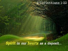 2 Corinthians 1 22 Spirit In Our Hearts Powerpoint Church Sermon