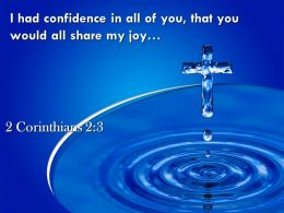 2 Corinthians 2 3 You Would All Share My Joy PowerPoint Church Sermon