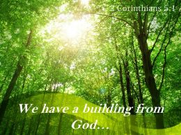 2 Corinthians 5 1 We Have A Building From God Powerpoint Church Sermon