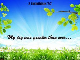 2 Corinthians 7 7 My Joy Was Greater Powerpoint Church Sermon