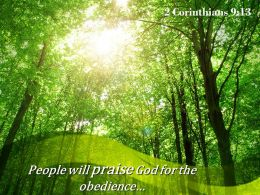 2 Corinthians 9 13 Praise God For The Obedience Powerpoint Church Sermon