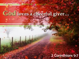 2 Corinthians 9 7 God Loves A Cheerful Giver Powerpoint Church Sermon
