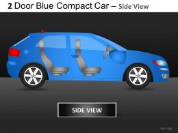 2 Door Blue Car Side View Powerpoint Presentation Slides DB