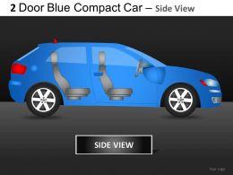 2 Door Blue Car Side View Powerpoint Presentation Slides DB