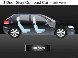 2 Door Gray Car Side View Powerpoint Presentation Slides DB