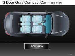 2 Door Gray Car Top View Powerpoint Presentation Slides DB