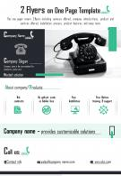 2 Flyers On One Page Template 1 Presentation Report Infographic PPT PDF Document