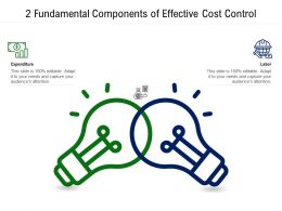 2 Fundamental Components Of Effective Cost Control