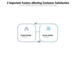 2 Important Factors Affecting Customer Satisfaction