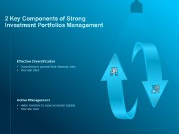 2 Key Components Of Strong Investment Portfolios Management