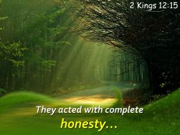 2 Kings 12 15 They Acted With Complete Honesty Powerpoint Church Sermon