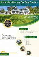 2 Lawn Care Flyers On One Page Template 1 Presentation Report Infographic PPT PDF Document
