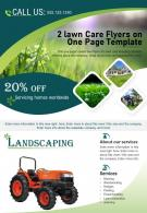 2 Lawn Care Flyers On One Page Template 2 Presentation Report Infographic PPT PDF Document