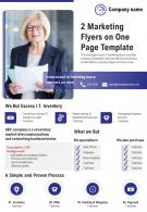 2 Marketing Flyers On One Page Template 1 Presentation Report Infographic PPT PDF Document