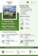 2 Marketing Flyers On One Page Template 2 Presentation Report Infographic PPT PDF Document