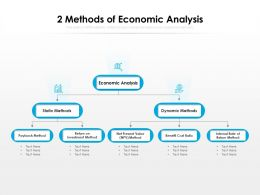 2 Methods Of Economic Analysis