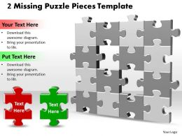 2 Missing Puzzle Pieces Template