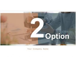 2 Option Business Growth Shape Different Arrows