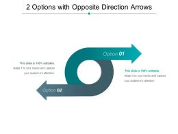 2 Options With Opposite Direction Arrows