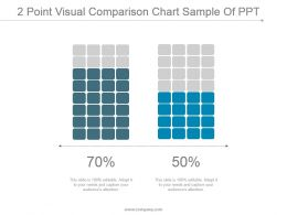 2 Point Visual Comparison Chart Sample Of Ppt